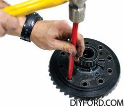Ford 9 Inch Axle Disassembly: Third Member and Pinion Cartridge Removal 16