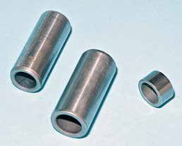 From left to right are bushings for Autolite/Motorcraft distributors (single- and dual-point): B8QH-12020-A (MC-149) (long), C5AZ-12020-A (MC-175) (long), and C5AZ-12131-A (MC-176) (short). When you build an Autolite/Motorcraft distributor, go with both the long and short bushings for optimum shaft support and load them up with engine assembly lube. Oil-impregnated bushings are your best option if you can find them. These Motorcraft new-old-stock bushings were provided by Mustangs Etc.