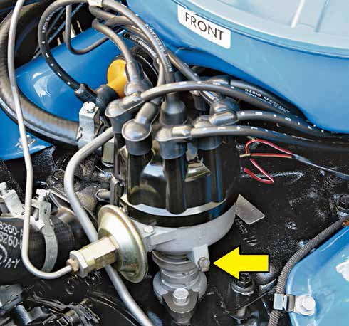 This first-generation Autolite single-point/dual-advance distributor sports an oil wick and a hard-lined vacuum advance. You can expect to see Ford part numbers ranging from C2OF through C4AF with the oil wick for 221, 260, and 289-ci engines.