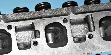 Despite the 351C-4V cylinder head's great intake port sizing, the exhaust ports can be restrictive, depending on how you intend to use them. With port and bowl work, you can achieve improved scavenging.