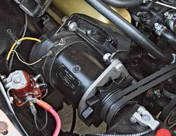 Small-block Fords were fitted with generators for a short time, 1962–1964. Six generator types were produced in that time, all 30 amp. All called for the same service replacement (C1TZ-10000-A). This is a C2OF-10000-G. Two pulley sizes were available, 2.67 and 4.32 inches. The 2.67-inch standard pulley was available with one or two sheaves. The 4.32-inch pulley is for 289 High Performance only.