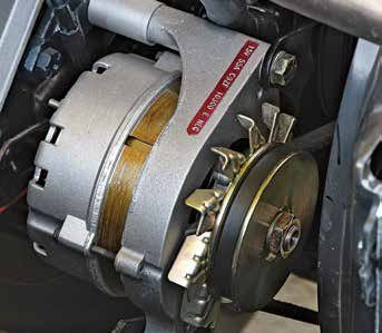 This is a 1G C9ZF-10300-E alternator with the largest pulley, a 55-amp unit for the Boss 302. The strip color indicates amperage.