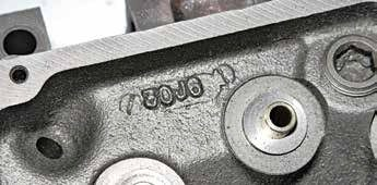 """If you find Australian 302C or 351C head castings, you won't find a Ford North American casting number. Expect to see something like this """"30J6"""" marking."""