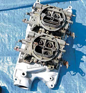 Here's a two-four induction package from Shelby for the 260/289/302 with a pair of Carter AFBs.