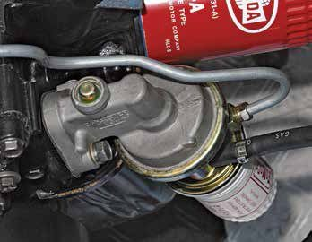 Here's a 1965 sealed Carter fuel pump with filter. Prior to 1965, most Carter pumps were bolted together and rebuildable. The sealed Carter pump can be rebuilt, but only by a professional. Some rebuilders specialize in these sealed Carter pumps.