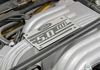 Induction systems for 5.0L and 5.8L small-blocks can be complicated. When Ford redesigned the Mustang for 1994, it had to change the 5.0L High Output's upper intake to adapt to a lower hood line. This is the 1994–1995 upper intake.