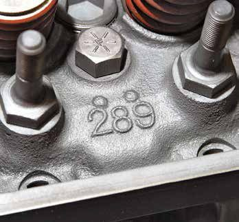 """The """"289"""" with two bumps is exclusive to the 289 High Performance cylinder head. External markings (cavity numbers 19, 20, 21) in the outside corners are also a quick means to Hi-Po head identification. If you see any of these numbers you have a 289 High Performance head."""