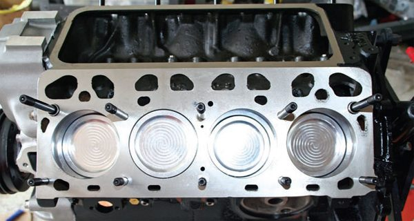 High-performance and racing Y-blocks have won many NASCAR races, Bonneville speed runs, and other competitions over the years. This 322-ci Y-block features dished pistons so it's compatible with increased cylinder pressures of the supercharger. Here, the short-block is assembled and it's ready to accept the heads, intake, carb, and other related equipment.