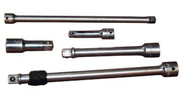 """Extensions of varying lengths, in 1/4-, 3/8- and 1/2-inch drives provide reach and leverage, thus making your ratchet or breaker bar more effective. Also available are """"wobble"""" extensions that allow you to access fasteners from different angles."""