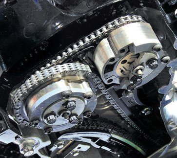 At the center of each sprocket/ actuator is a pin, which is operated by the Ti-VCT solenoid (electromagnet) and PCM.