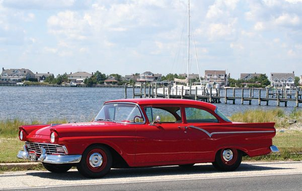 This beautiful 1957 Ford Custom, belonging to Rich Stuck of Brick, New Jersey, is the proud recipient of my 322-ci McCulloch supercharged performance Y-block engine.