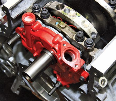 The Coyote's lubrication system offers greater support than ever before with a high-volume pump and a more liberal network of oil galleys. It has an 8-quart pan with a windage tray/gasket combination for easy disassembly and reassembly. Ford claims 10,000-mile oil change intervals; however, it is suggested you change the oil every 5,000 miles and use 5W-20 synthetic oil for best results.