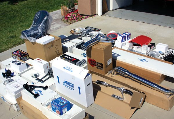 You could look at all these components and boxes and be dismayed that there's so much work to do. We were ecstatic.