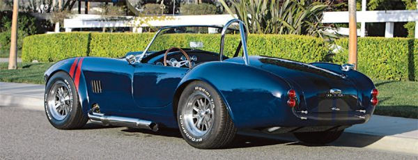 Factory Five Racing offers the Cobra Mk4 in Complete Kit for $19,900 and a Base Kit for $12,990. The owner needs to source the engine, drivetrain, and some related parts for the Complete Kit while the Base Kit requires the use of a Mustang donor car.