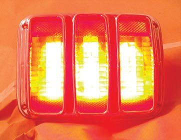 This vehicle clearly shows the benefit of adding LED technology to your older car. The LED taillamps are much more visible than would be the case with the stock bulbs plus the added LED CHMSL further enhances safety and visibility while also providing a unique styling element. Because the LEDs last almost indefinitely there is no issue installing them in a location that can't be easily serviced in the future.