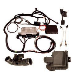 Ford Racing Performance Parts (FRPP) offers Control Packs to facilitate the installation of a Coyote engine in non-emissions vehicles such as a street rod (and some first-generation Mustangs, depending on what laws apply in your area). This kit includes the major components, such as the specially calibrated and slimmed-down ECU, the necessary drive-by-wire throttle pedal assembly, a MAFS, oxygen sensors, and a wiring harness. By necessity, the ECU has been calibrated to compensate for the lack of many sensors and signals found in the production car, which are rarely, if ever, feasible to incorporate into a non-emissions vehicle. The ECU and calibration allow the engine to function in such vehicles but, generally speaking, at a somewhat reduced level because full functionality cannot be retained.