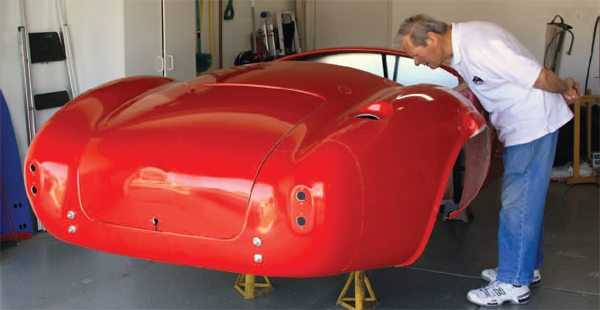 We carefully inspected the Factory Five Racing Mk4 body, aluminum panels, and IRSconfigured chassis on our first day. All the components appeared to be in brand-new condition.