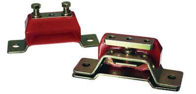 The Energy Suspension safety interlock system offers an extra measure of safety. Even if all of the polyurethane fails the remaining metal parts continue to limit movement until the part can be replaced. This provides added safety and longer life compared to rubber parts. The movement of the engine and transmission mounts affects the operation of the clutch and/or shift linkages. Polyurethane parts better limit excessive movement. (Photo Courtesy Energy Suspension)