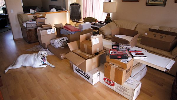 I wonder if my wife would have permitted my storing all the engine components and some of the FFR Mk4 Complete Kit boxes in the living room. Perhaps I was lucky to be single at the time of the build.