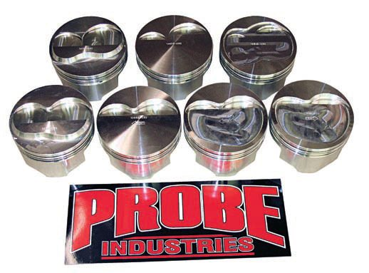 Most cast pistons are only suitable for a mildly modified daily driver; if you're building a high-performance engine they are inadequate. Hypereutectic pistons withstand moderate power levels of 450 hp or so, unless a power adder is involved. At higher power levels and/or with a power adder you need forged pistons, such as these from Probe Industries.