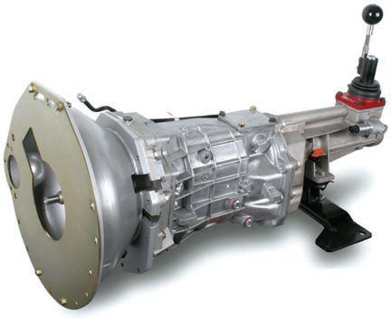 The ultimate manual transmission for this streetable track-day example is a beefed up TKO 5-speed or a Tremec T-56 6-speed. If you need more torque capacity than 600 ft-lbs for a TKO you can get it through internal modifications. Installation of a T-56 is more involved than a TKO or T-5 because of its size and different mounting points. Fortunately, conversion parts are readily available. (Photo Courtesy Tremec)