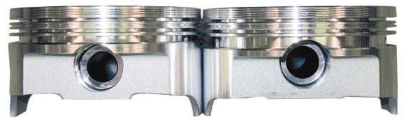 A raised-pin boss (often required with a stroker) can cut into the oil ring groove, depending on the specific components used (such as rod length) and the amount of increased stroke. This usually results in some additional oil consumption, blowby, and wear. This may be acceptable in some cases but it probably doesn't work for a car that sees any significant street usage. It's possible to avoid this with the proper rod length and a limited RPM range.