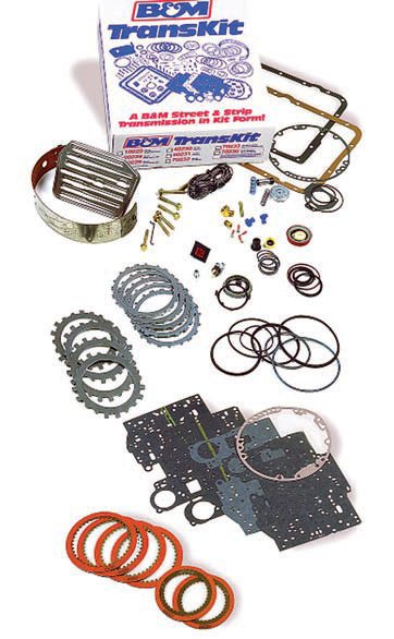 When a complete transmission rebuild is needed, full kits improve the shift behavior and also upgrade the internal components to withstand higher torque levels and abuse. B&M's TransKit, for example, includes upgraded materials and components to essentially replicate the performance and capabilities you'd get if you bought a complete transmission from B&M. It allows you to build it yourself (or have someone do it) instead of buying it. (Photo Courtesy B&M Racing)