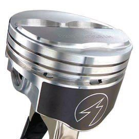 In addition to the type of aluminum alloy and the overall design and shape of the piston, specialized coatings can also improve performance. An anti-friction coating can be applied to the piston skirt to minimize friction and wear, and also allow for a desirable tighter fit in the bore. (Photo Courtesy Probe Industries).