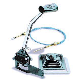 If you happen to have a vehicle with a column shift (it happens) and want to convert to a floor shift, B&M offers the Unimatic shifter. It allows you to disconnect the column-shift mechanism and replace it with a smooth and reliable cable-shifting system. (Photo Courtesy B&M Racing)