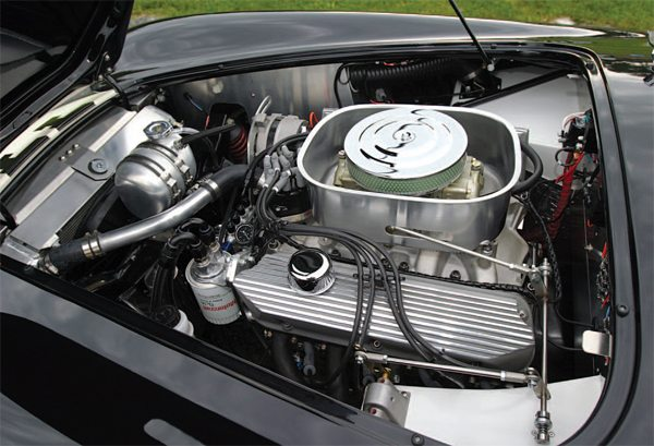 The Jackson E.R.A. 289FIA is actually equipped with a 351- ci Ford Windsor mill and has a small 427 competition-car air cleaner and a turkey pan, which may trick some Cobra fans into thinking the engine's a big-block instead of a smallblock V-8. Evaluate things like the throttle linkage, notice how beautifully the aluminum radiator hose is run, consider the way that the remote oil filter is installed, see that there are spark plug wire looms in the middle of each valve cover (just as there was in the original Cobras), check out how sweet the wiring is installed. If you see items this well done, make the seller a good offer and hope for the best.