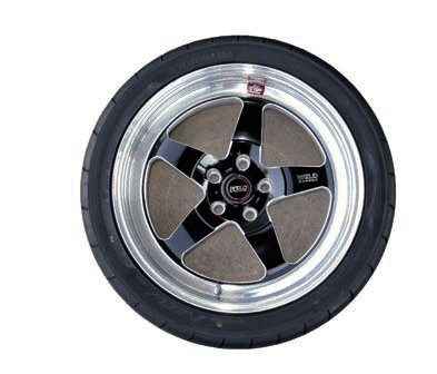 For frequent track use an upgrade to 18-inch wheels is desired. This allows the use of the largest brake packages while further reducing the sidewall height to the lowest practical amount for optimum steering response. On early Mustangs in particular, performance is not gained by going above 18 inches in diameter. This Weld Racing RT-S wheel for early Mustangs can be used on the track as well as on the street. It's a super-light two-piece forging available in several simple styles and finishes, yet which can be had in a very wide range of fitments. These wheels have several unique features such as a choice of three different spoke profiles (to ensure optimum clearance to the brakes) plus the use of finite element analysis and other advanced techniques during their design and production to minimize PMOI and weight without losing strength. This significantly improves braking and acceleration.