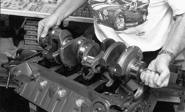 Building a solid, reliable stroker small-block takes very close attention to detail. Clearances need to be checked and rechecked. Make sure rods, pistons, and crankshaft counterweights clear the block and oil pumps.