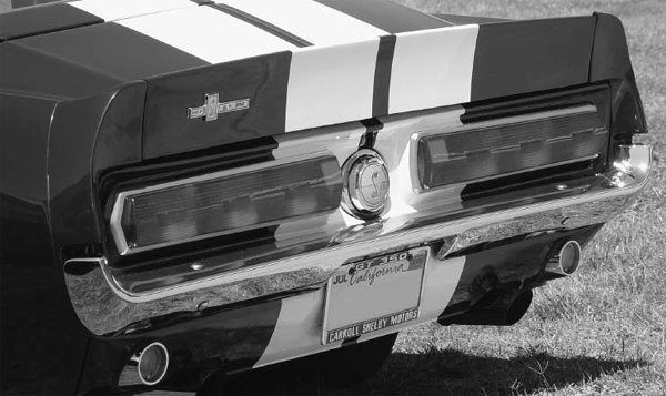 Factory rear spoilers, tail panels, and taillights from Shelby Mustangs are readily available if you want to add them to your standard Mustang