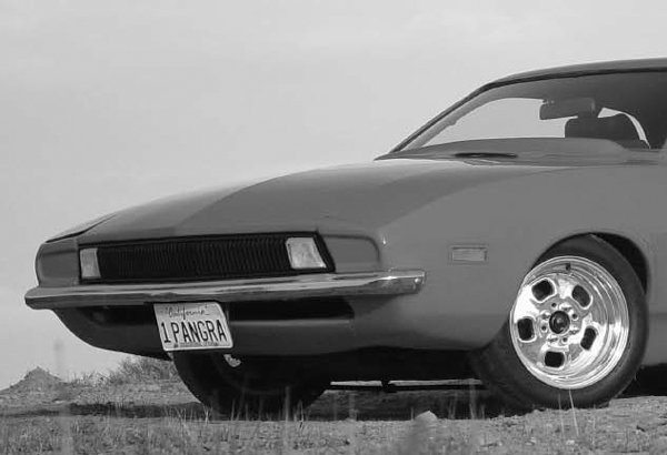 This 1972 Pinto Pangra is owned by Brad Fagan. One of the most obvious ways to differentiate this Pinto is the redesigned front end. The front fenders and hood are made of fiberglass. The pop-up headlights are operated by a lever under the dashboard.
