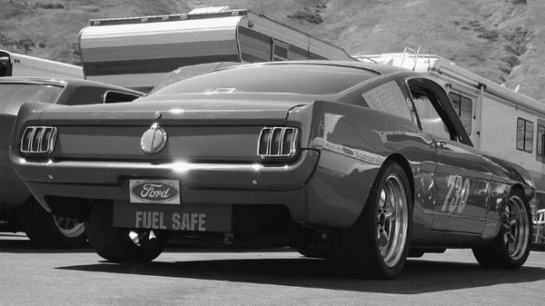 The owner of this Mustang trimmed the rear apron to cut down on air that pockets in front of it, decreasing wind resistance. The original wheel lips were also removed for extra tire clearance.