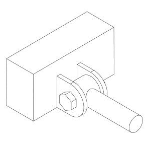 This illustration shows the proper way to mount a suspension or load-bearing link. The suspension link is located by two mounting tabs. This mounting method is referred to as double shear. A single mounting tab would be insufficient and unsafe. (Illustration courtesy Vince Asaro)