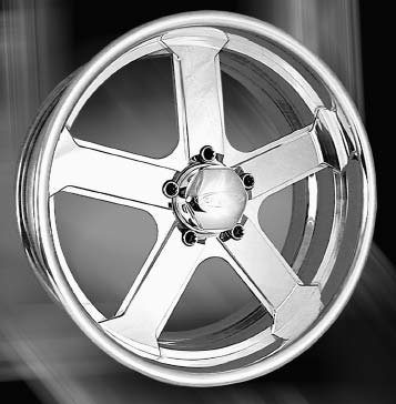 BonSpeed makes a full line of forged wheels with show-quality finish on the front and back side. This one is called Intense. It's available in 16- to 24-inch diameters, with backspace in 1/8-inch increments for an exact fit. (Photo Courtesy Bonspeed)