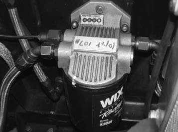 Racers have found less restriction from the Fram HP6 and WIX 51222R filters. To mount these, you'll need a block adapter and a remote filter mount like this Fram unit. Moroso also makes a mount for these big filters. It's suggested to plumb these with -10AN hoses and fittings.