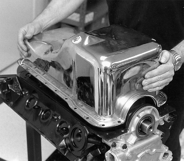 Heat kills power. To make power, we have to make the best use of heat where it counts – in the combustion chamber. Did you know chrome-plated oil pans and valve covers hold heat inside the engine? They also stay hot long after shutdown. You want components like oil pans, valve covers, and intake manifolds that get rid of heat. Cast aluminum is the best heat-sink there is, short of copper.
