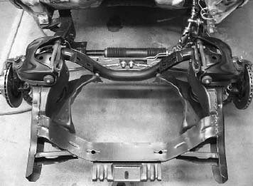 Wurth-It Designs has answered the prayers of 1955-1956 T-Bird and 1954- 1964 full-size Ford owners who want latemodel rack-and-pinion steering systems. The Wurth-It bolt-in systems have little to no bumpsteer and they work with stock or Granada spindles. (Photo courtesy Wurth-It Designs)