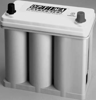 Optima added the group-51 battery to its product line. It was introduced to meet size requirements for sport-compact cars, but it is becoming popular with the domestic crowd because it tips the scales at a svelte 26 lbs. That's 16 lbs lighter than the standard group-34 yellow-top Optima battery. With 500 cold-cranking amps, it exceeds almost any V-8's starting needs. (Photo courtesy Optima Batteries)