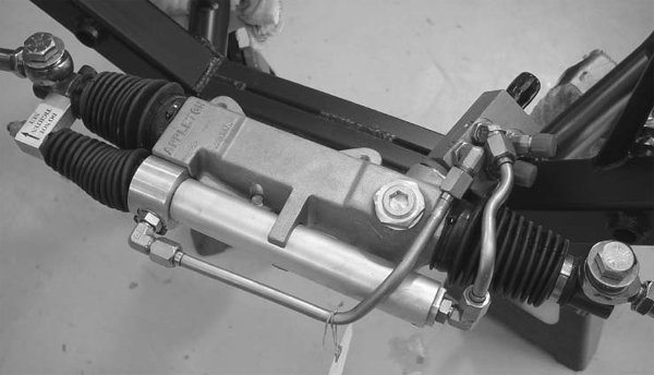 Woodward Steering and Appleton both make racing power-steering racks. With the right knowledge of steering geometry and moderate fabrication skills, these racks can be adapted to just about anything. They are typically found on racecars and Extreme Restomods.
