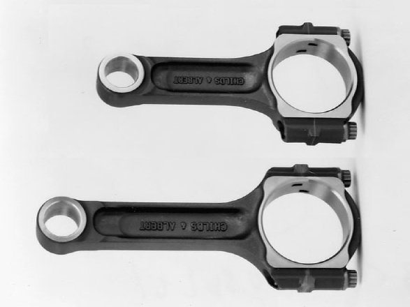 Rod length matters just as much as stroke. A longer connecting rod allows the piston to dwell longer at the bottom and top of the cylinder bore, which allows for a greater fuel/air charge.