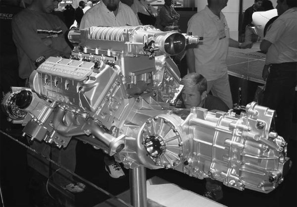 How about building a mid-engined Restomod with a 2005 Ford GT 5.4L supercharged modular engine? It pumps out 500 hp and 500 ft-lbs of torque. Imagine this beast sitting behind the seats of a '66 Mustang mounted in a custom chassis. The options are endless.