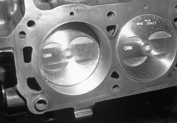 The area above the piston is considered swept volume. Swept volume is the area the piston consumes on the up stroke. When the piston reaches top dead center, the area above the piston is considered clearance volume.