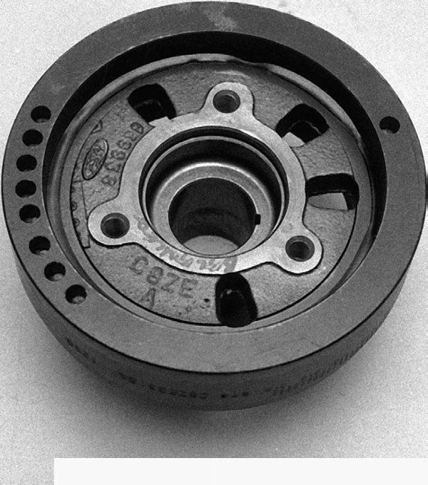 The 1962-69 three-bolt balancer.