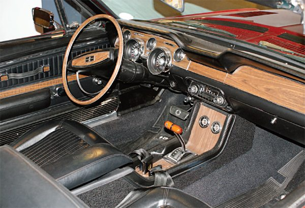 Finally, the Shelby Mustang had an interior as luxurious as the most gussied-up 'Stang. The plush interior was in keeping with a totally new direction for the car, which was less the all-performance 1965 Shelby and more like the most luxurious Thunderbird.