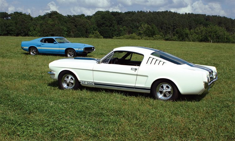 Is this a case of the 1965 Shelby confronting what it had become, or the 1969 Shelby confronting what it once was? No matter how you look at it, the Shelby Mustang had undergone a drastic evolution in the six model years of its existance.
