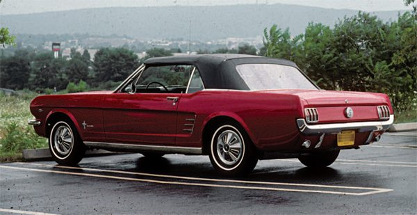 Everything that made up the identity of each individual Mustang (color, body style, engine, transmission, wheels, and other options) was predetermined before the car's chassis started down the assembly-plant line.