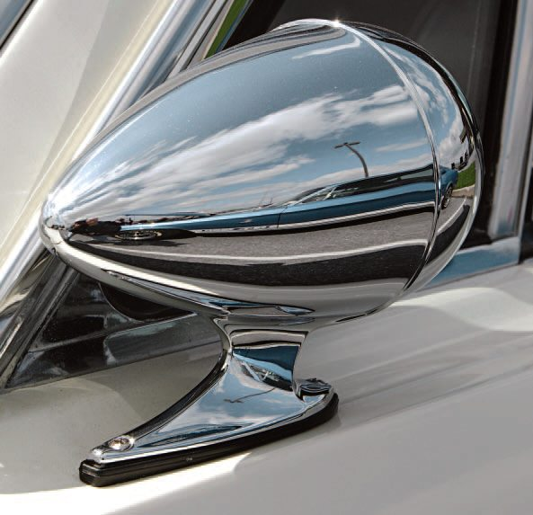The Rotunda accessory bullet mirror became standard fare for the 1966 GT350 but some 1965 owners (or dealers) installed them on 1965 cars.